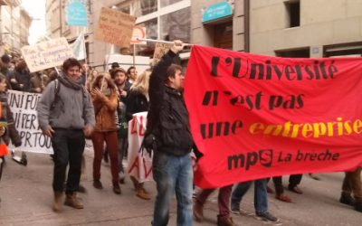 Friburgo: Manifestazione per un'Università democratica, plurale ed egualitaria!