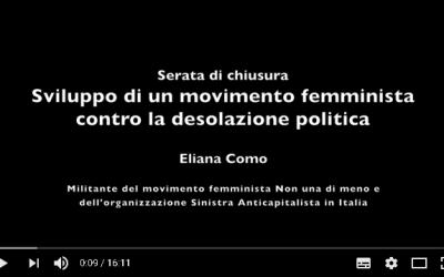 Sviluppo di un movimento femminista contro al desolazione politica?