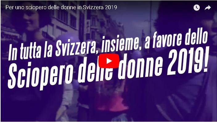 Per uno sciopero delle donne in Svizzera 2019