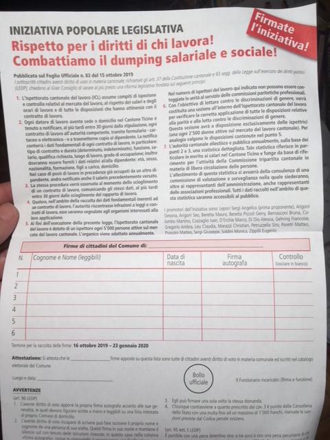 Firma l'iniziativa e i due referendum
