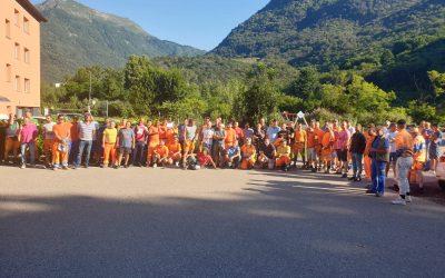 Un giorno di sciopero degli operai edili di Walo-Bertschinger AG in Ticino