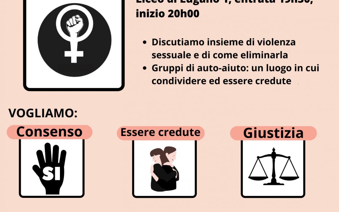 Il collettivo Io l'8 ogni giorno organizza un secondo incontro di riflessione contro la violenza sessuale