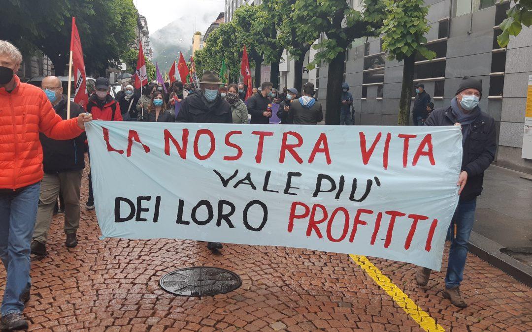 1° maggio a Bellinzona, una bella e combattiva manifestazione