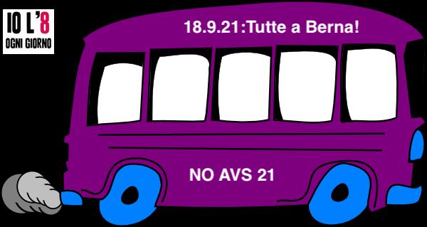 Tutte-i a Berna sabato 18 settembre contro la Riforma AVS21